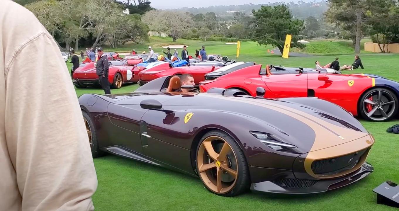 Ferrari Monza vandalized-Pebble Beach