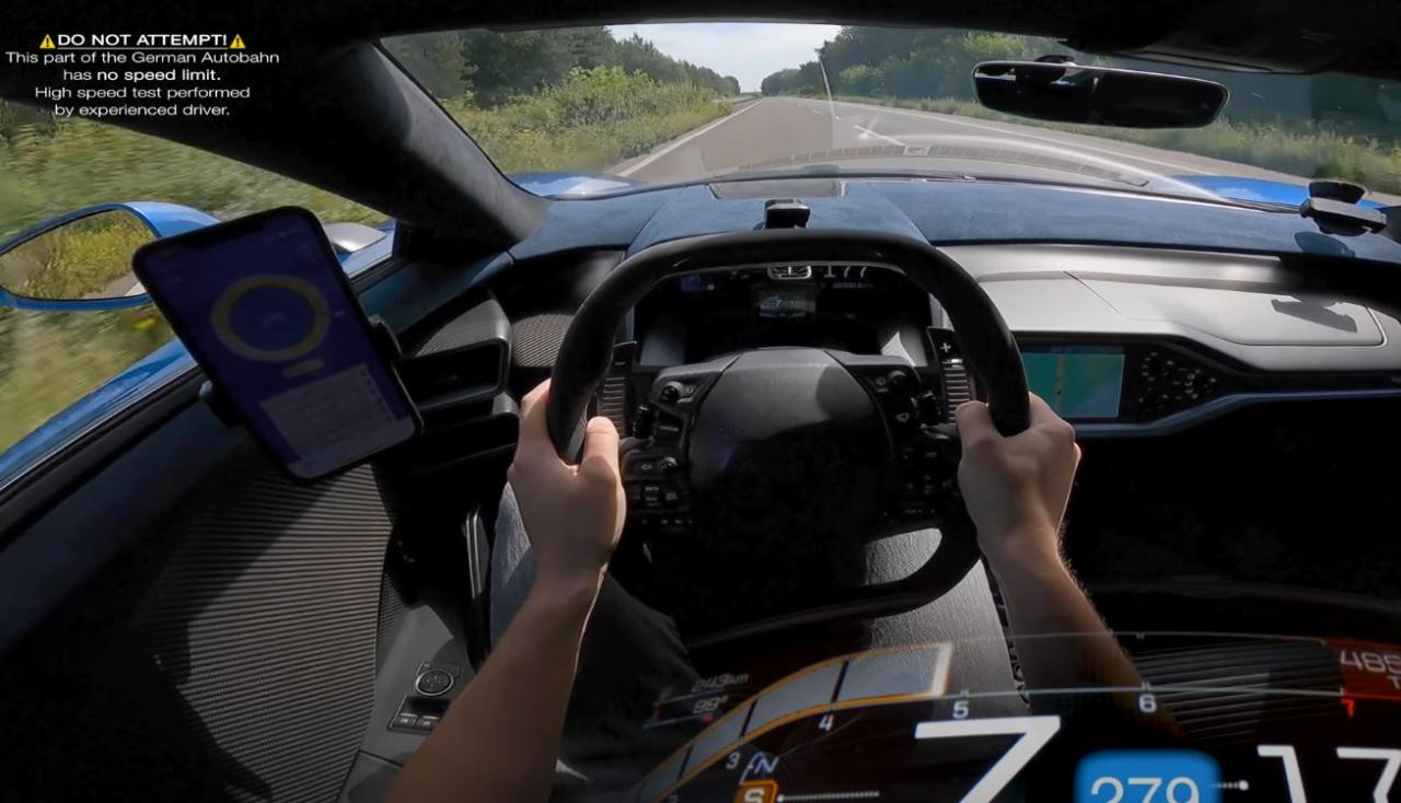 Ford GT top speed autobahn