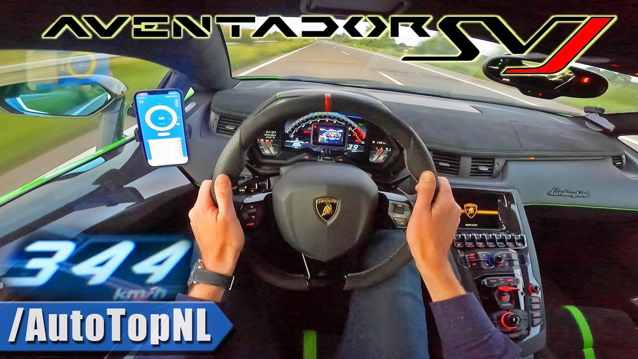 Lamborghini Aventador SVJ-top-speed-autobahn